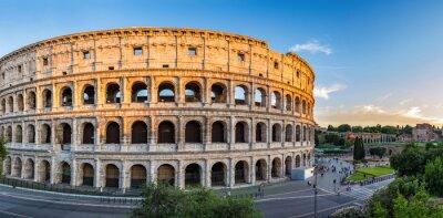 Plakát Západ slunce na Colosseum - Řím - Itálie