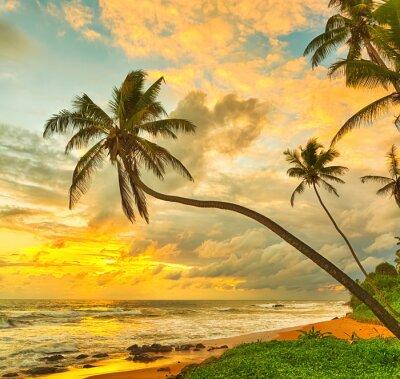 Plakát Západ slunce nad mořem