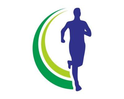 Plakát zdraví běh logo