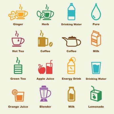 Plakát zdravý nápoj prvky
