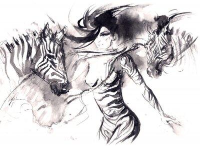 Plakát zebra