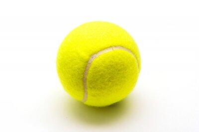 Plakát zelená tenisový míček na bílém pozadí