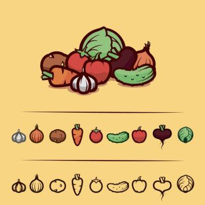 Plakát zelenina set