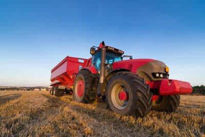 Plakát Zemědělství tahač a návěs