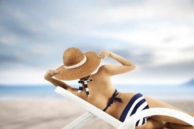 Plakát žena a bikini