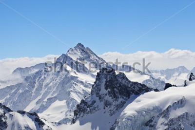 Plakát Zimní krajina v Matterhorn