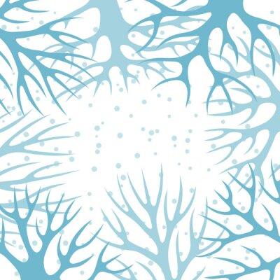 Plakát Zimní pozadí design s abstraktními stylizovanými stromy