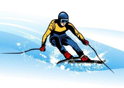 Plakát zimní sport
