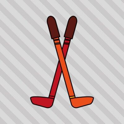 Plakát zimní sportovní design