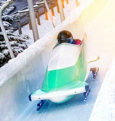 Plakát Zimní sporty - Bobová dráha v kluziště