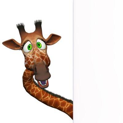 Plakát Žirafa s prázdnou palubu