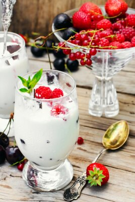 Plakát Zmrzlina s ovocem a mátou