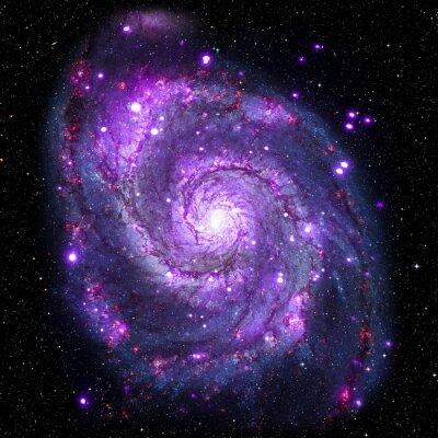Plakát Zobrazit obrázek systému Galaxy izolované prvky tohoto obrázku zařízený NASA