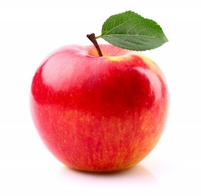 Plakát Zralé jablko s listy